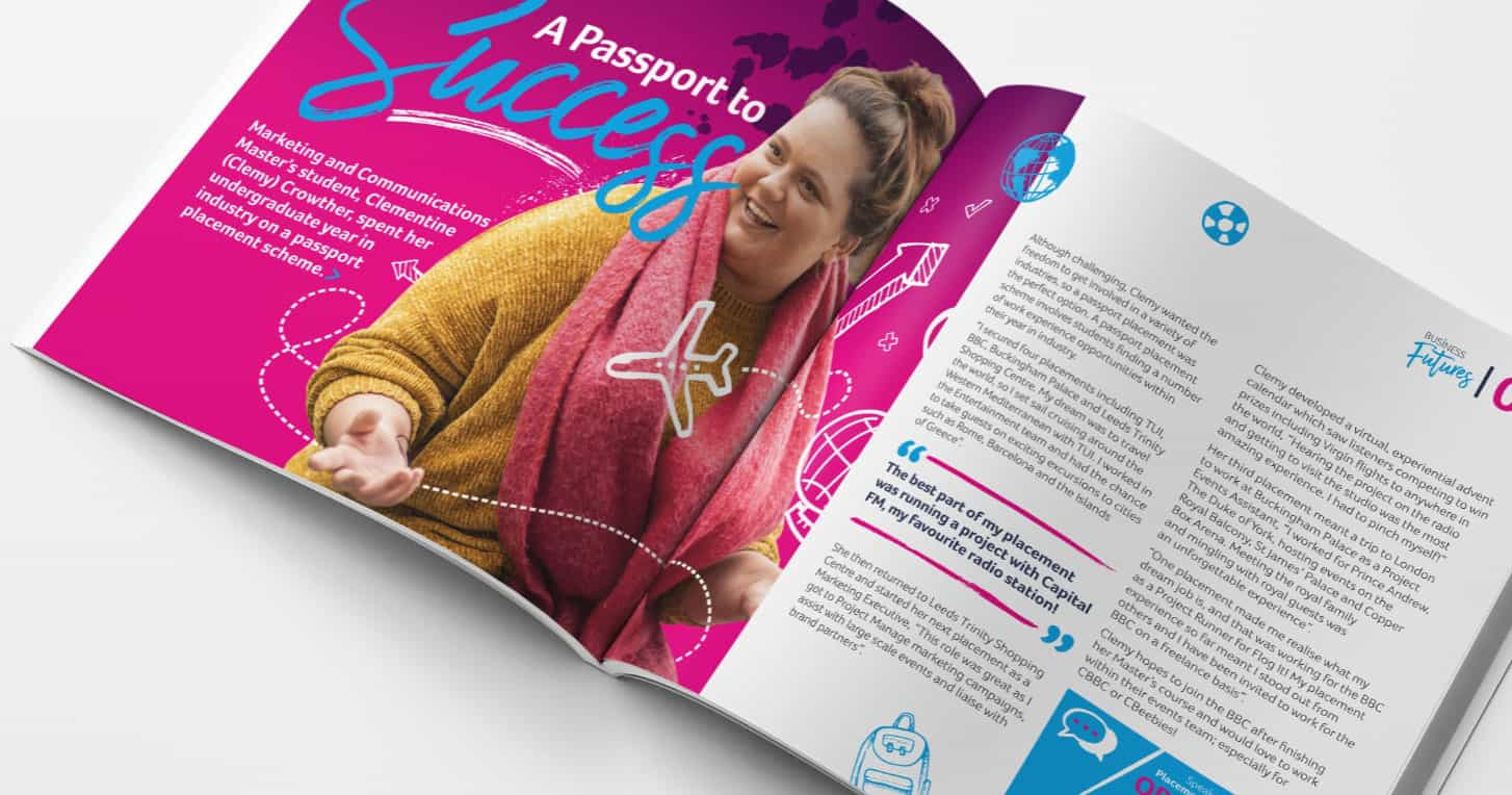 University of Huddersfield Brochure Design 52 degrees north