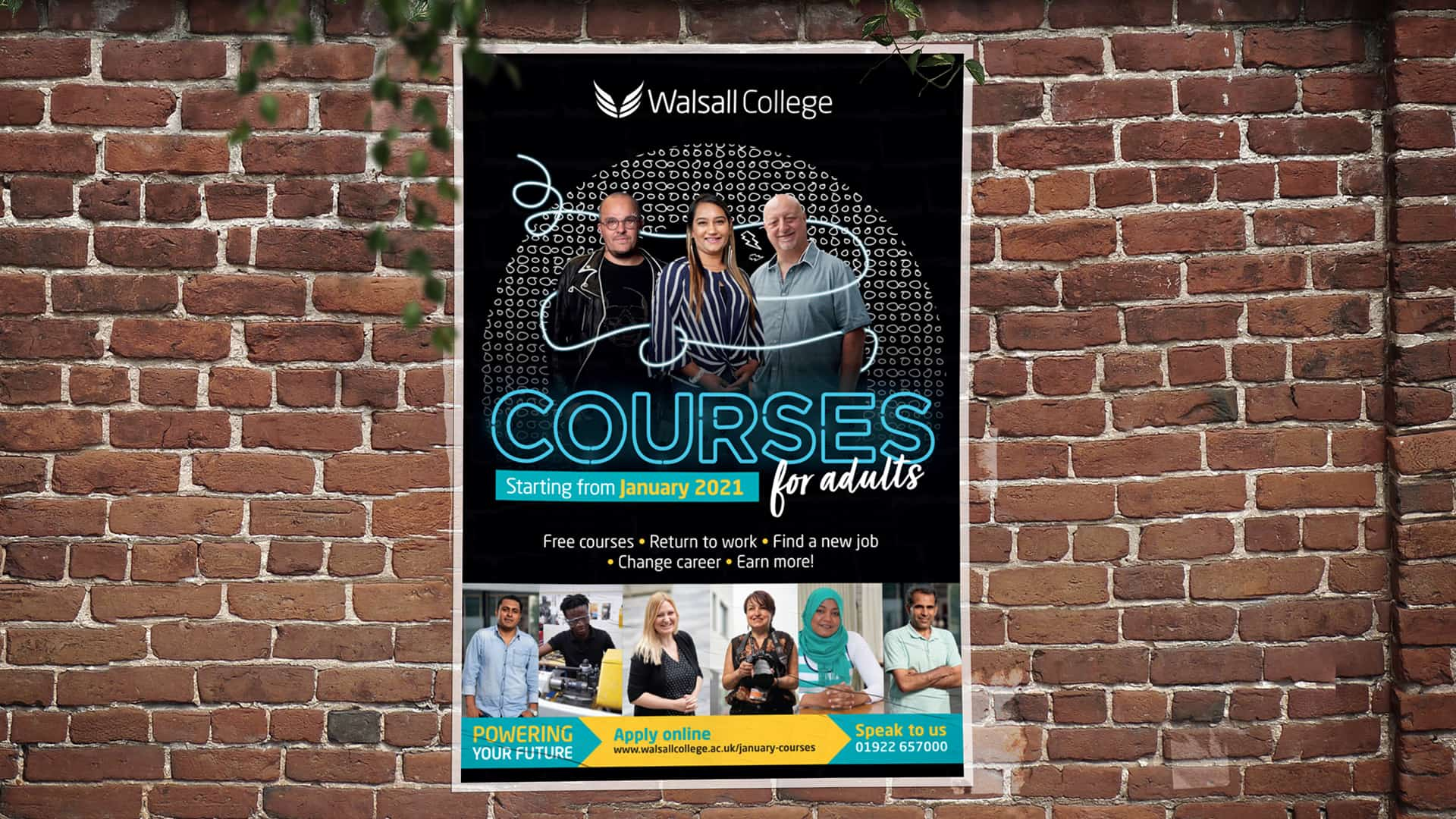 Walsall College Adult Campaign A3 Poster 1