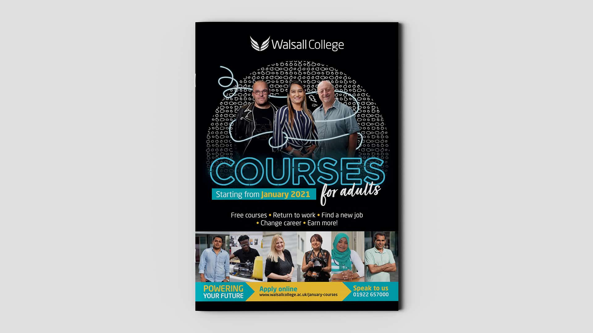 Walsall College Adult Campaign A4 Booklet Cover 1